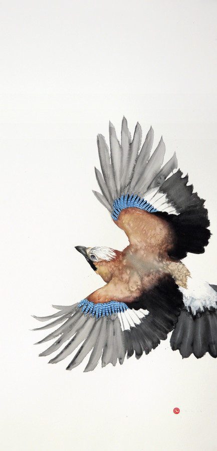 "<span class=""artist""><strong>Karl Martens</strong></span>, <span class=""title""><em>Jay Flying II (Unframed)</em></span>"
