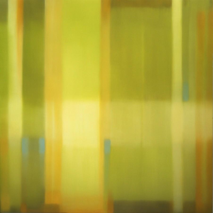Julian Jackson  Crossing Green, 2012  oil on canvas  78 x 78 in.