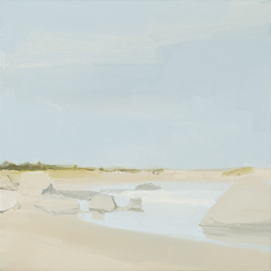 Sara MacCulloch Beach and Rocks, 2014 oil on canvas 16 x 16 in.
