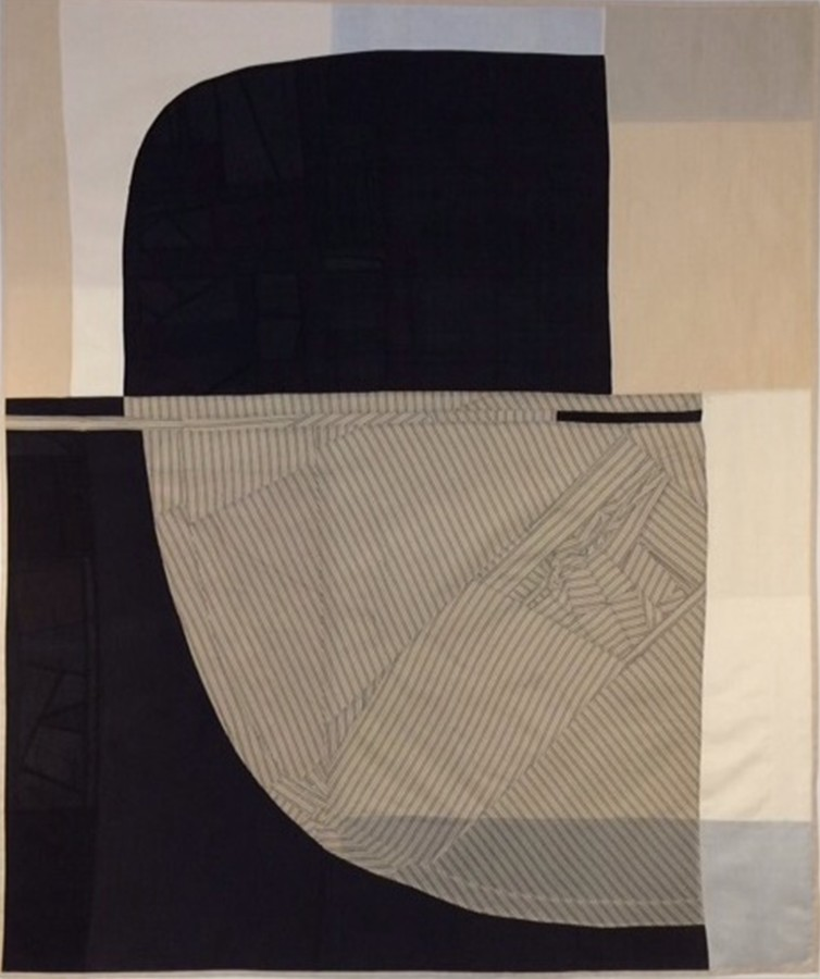 Debra Smith Above the Horizon, 2014 pieced vintage silk 48 x 58 in