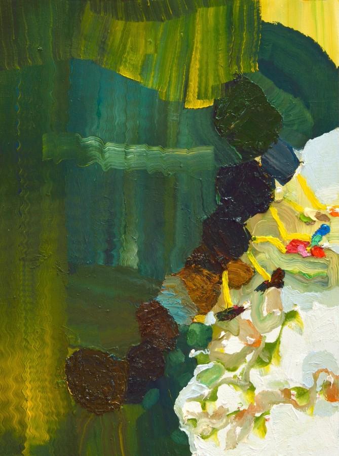 Josette Urso  Walk Walk, 2014  oil on panel  16 x 12 in  $2,800