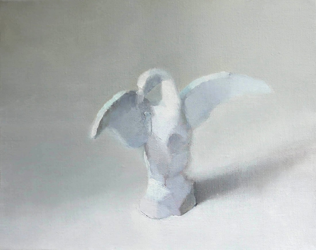 <div class=&#34;artist&#34;><strong>Stephanie London</strong></div><div class=&#34;title&#34;><em>The Swan</em>, 2014</div><div class=&#34;medium&#34;>oil and wax on linen</div><div class=&#34;dimensions&#34;>11 x 14 in.</div>