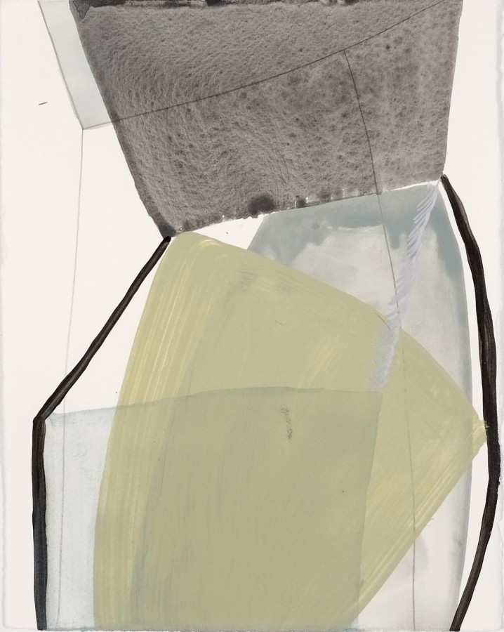 Ky Anderson  2015 Small Series #3, 2015  acrylic and ink on paper  12 x 9 in  framed $425