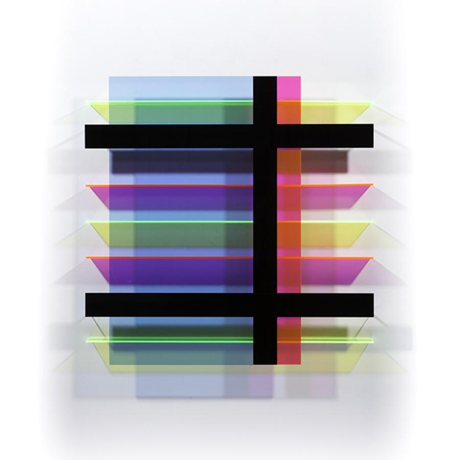 <div class=&#34;artist&#34;><strong>Christian Haub</strong></div><div class=&#34;title&#34;><em>Float for Les Collettes</em>, 2014</div><div class=&#34;medium&#34;>cast acrylic sheet</div><div class=&#34;dimensions&#34;>36 x 36 x 3 1/2 in.</div>