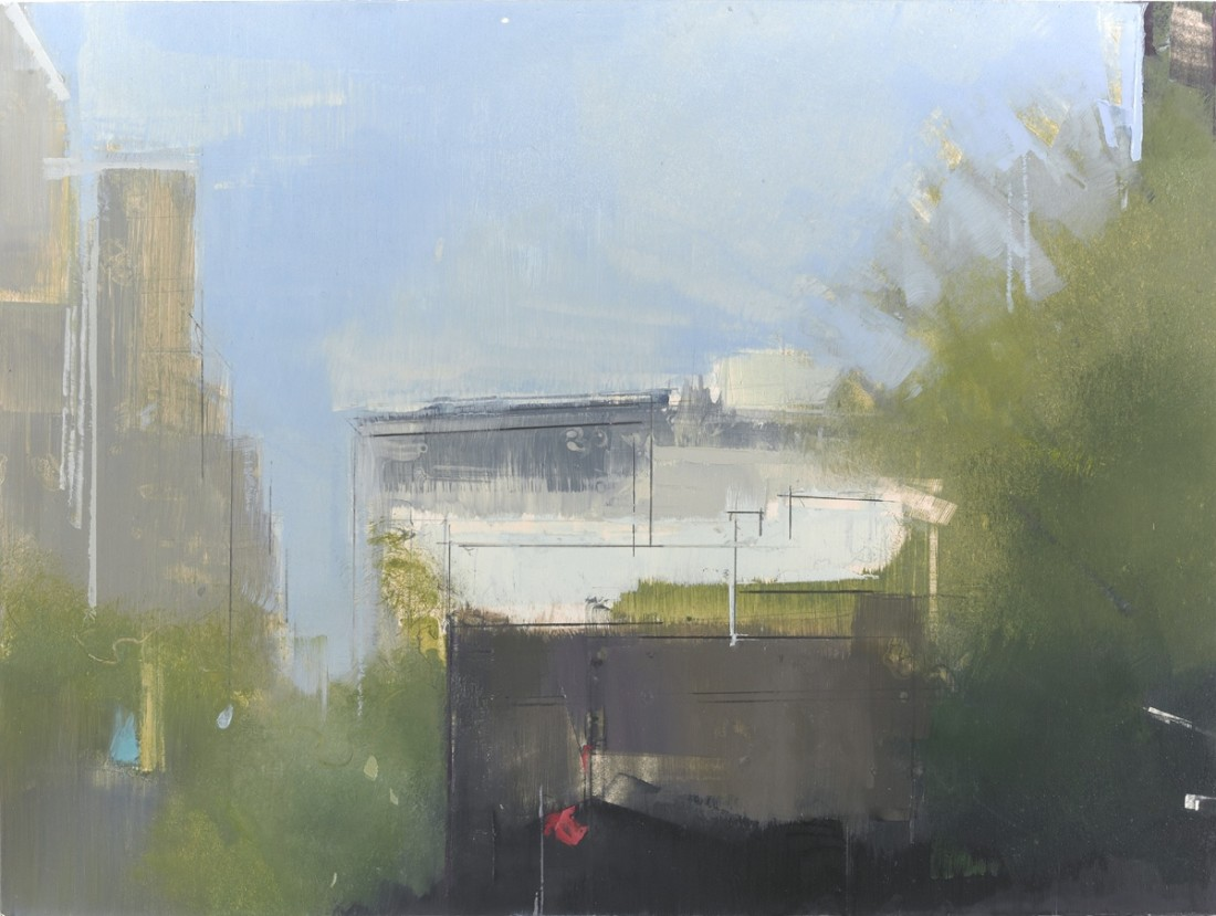Lisa Breslow  Summer Light, 2010  oil and pencil on panel  9 x 12 in.  $2,700