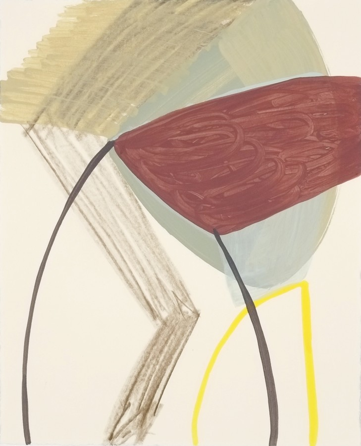 Ky Anderson  2015 Small Series #11, 2015  acrylic and ink on paper  12 x 9 in  framed $425