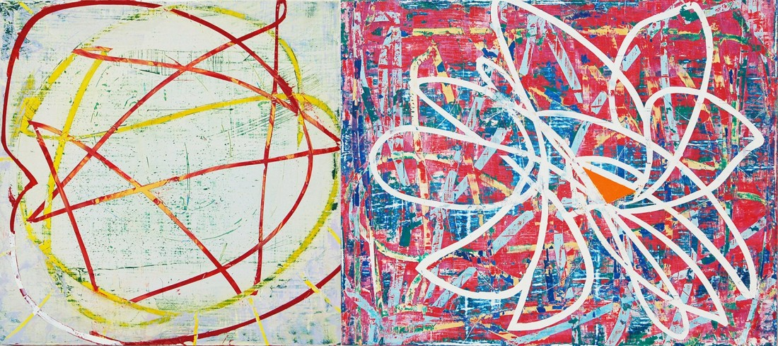 Mary Didoardo  Star Dahlia, 2015  oil on panel  8 x 18 in.  $1,400
