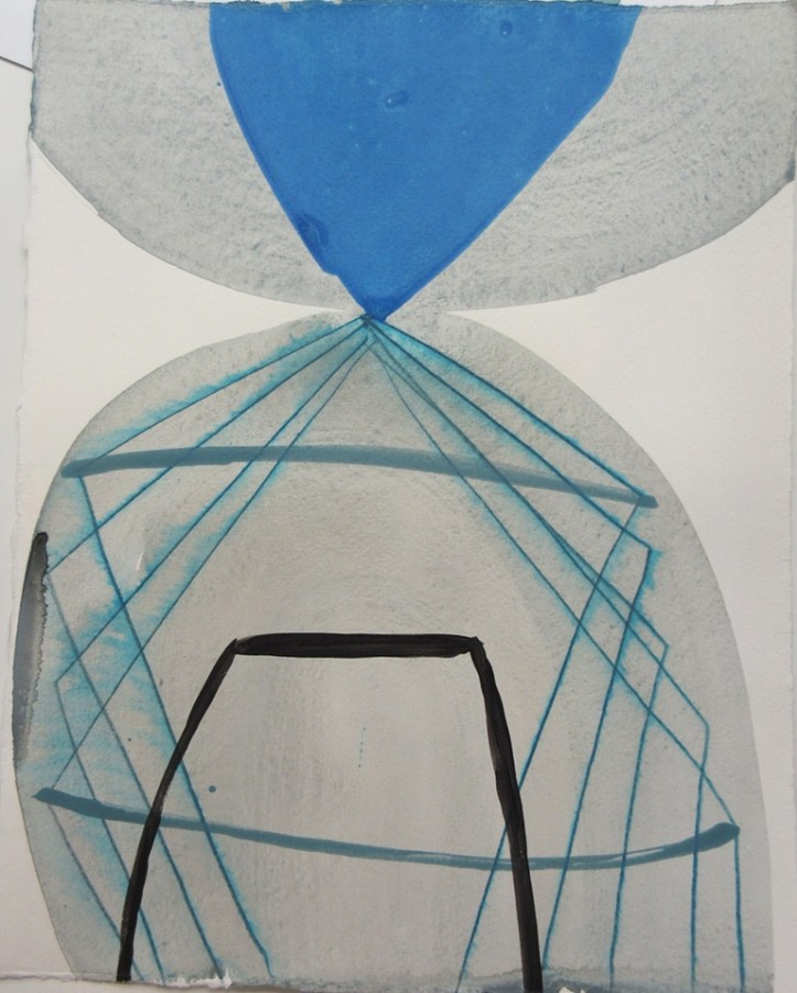 Ky Anderson  2015 Small Series #20, 2015  acrylic and ink on paper  12 x 9 in  sold