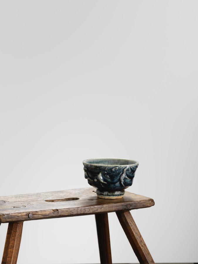 Kawai Kanjiro, Cobalt Blue Teabowl, c1955