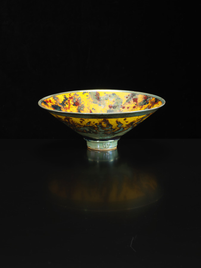 Sutton Taylor, Bowl, Yellow/Reds, 2018