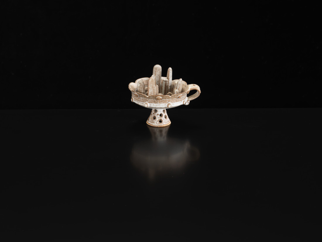 Ian Godfrey, Footed Cup with City Scape (small handle), C1970s
