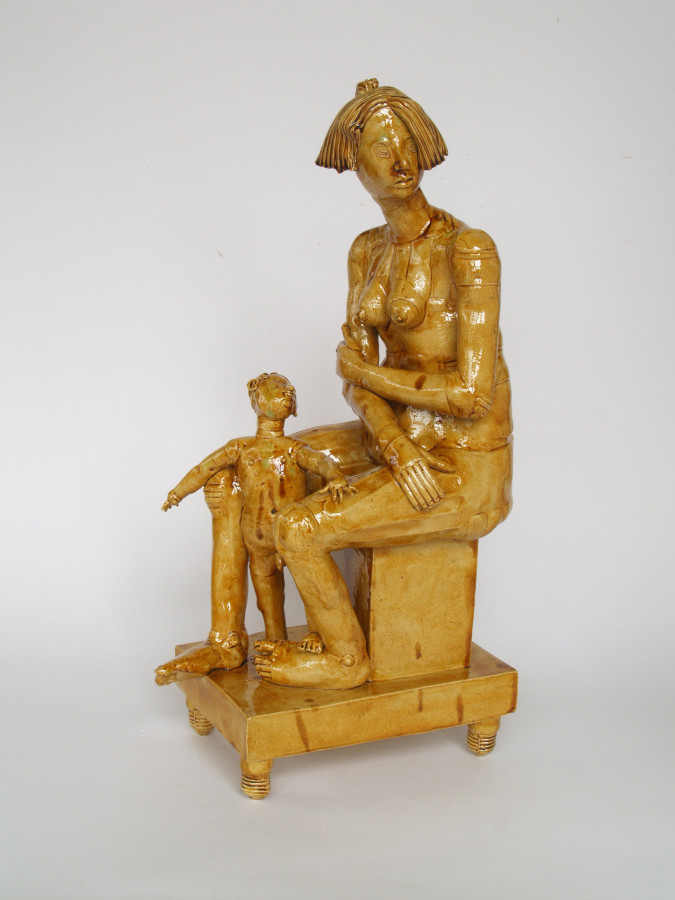 Philip Eglin, Seated Mother and Child