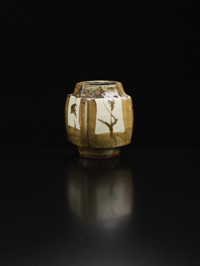 <span class=&#34;artist&#34;><strong>Shoji Hamada</strong><span class=&#34;artist_comma&#34;>, </span></span><span class=&#34;title&#34;>Squared Jar</span>