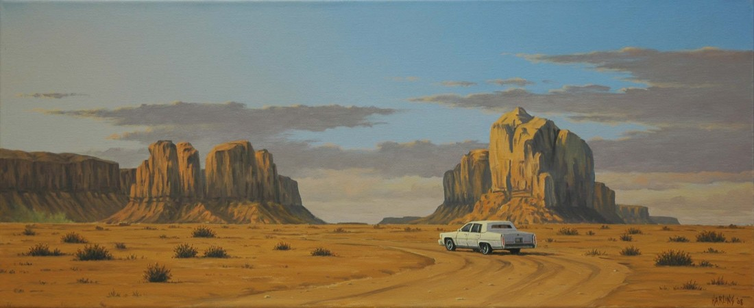 <span class=&#34;artist&#34;><strong>Simon Harling</strong></span>, <span class=&#34;title&#34;><em>Monument Valley Cadillac*</em></span>