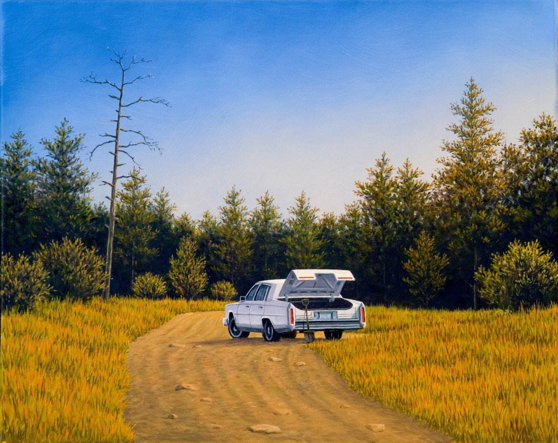 <span class=&#34;artist&#34;><strong>Simon Harling</strong></span>, <span class=&#34;title&#34;><em>Blood Simple Cadillac</em></span>