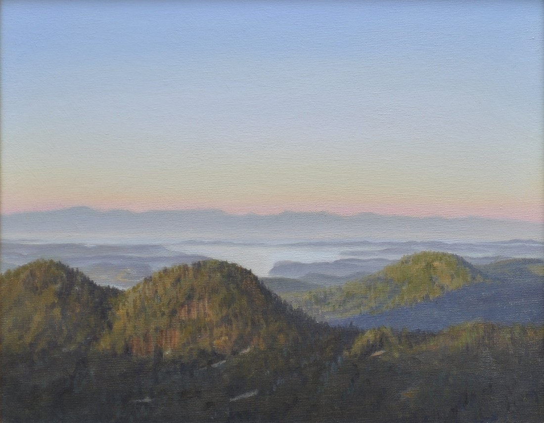Carl Laubin, The San Juan Islands from Mount Constitution 2