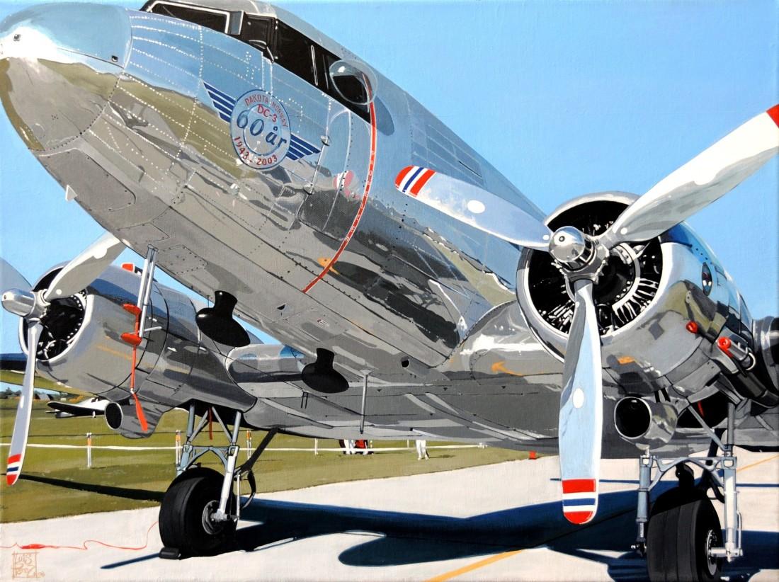 <span class=&#34;artist&#34;><strong>Luis Perez</strong></span>, <span class=&#34;title&#34;><em>Douglas DC-3 Dakota Norway</em></span>