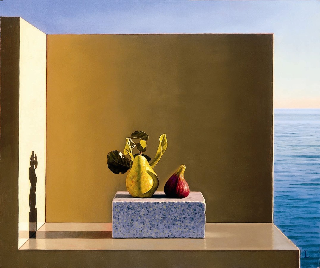 <span class=&#34;artist&#34;><strong>David ligare</strong></span>, <span class=&#34;title&#34;><em>Still Life With Fig and Pear</em>, 2005</span>