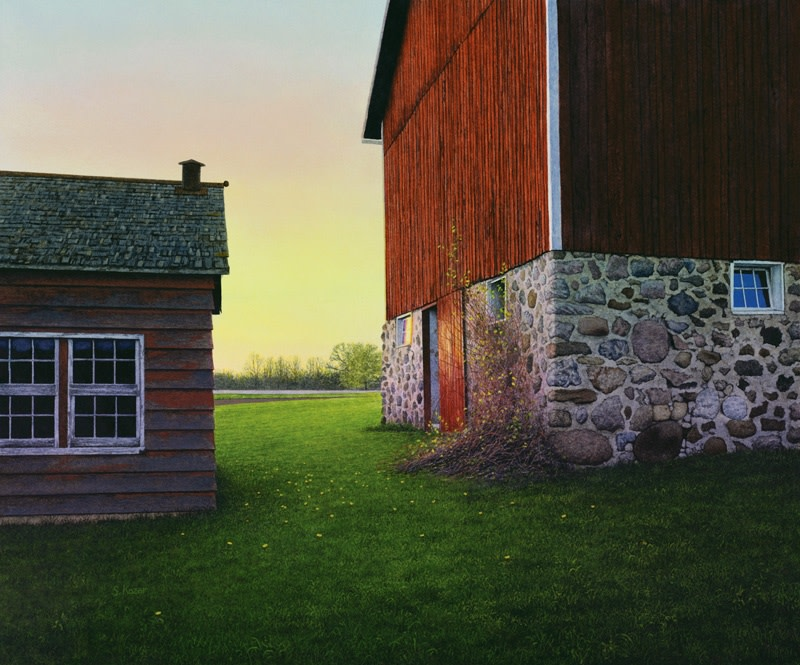 <span class=&#34;artist&#34;><strong>Steven Kozar</strong></span>, <span class=&#34;title&#34;><em>Spring Barn Sunset</em></span>