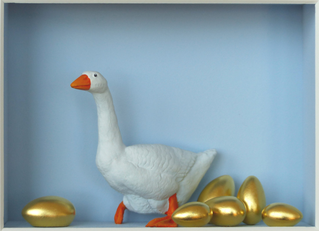 Volker Kuhn, The Goose That Lays a Golden Egg