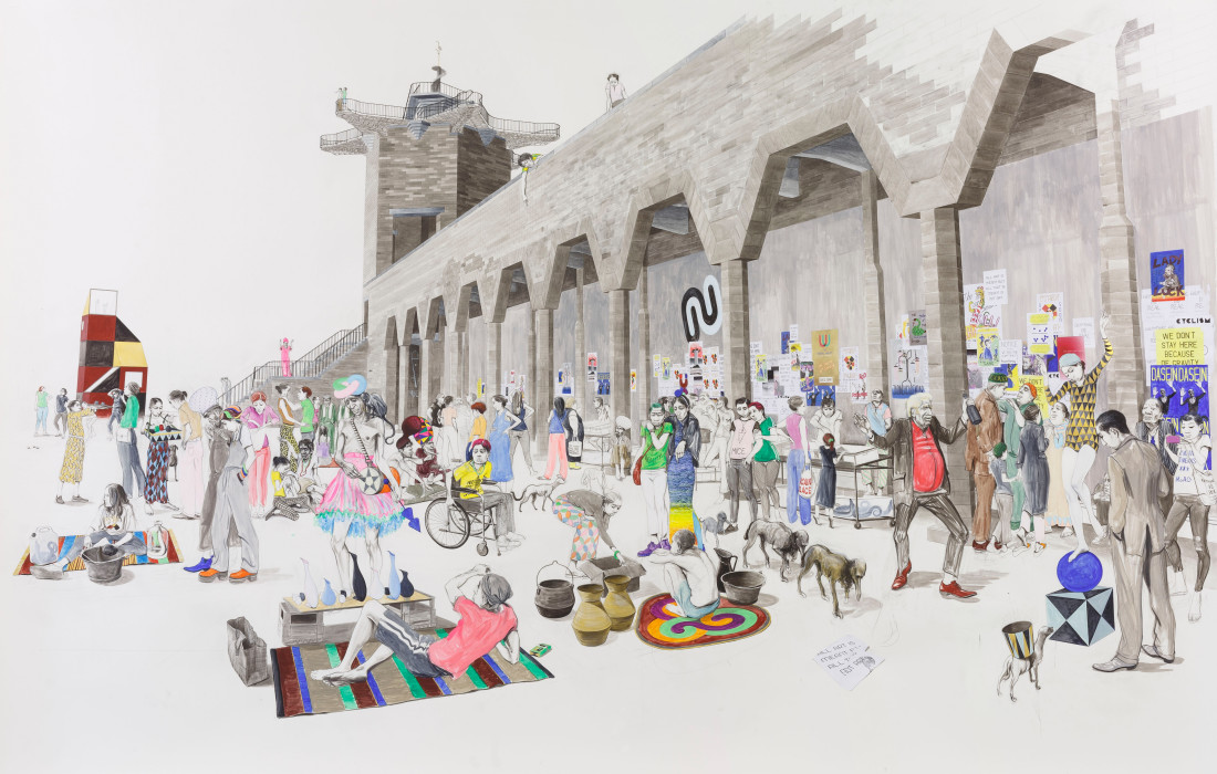 Charles Avery , Untitled (City Wall Market), 2020