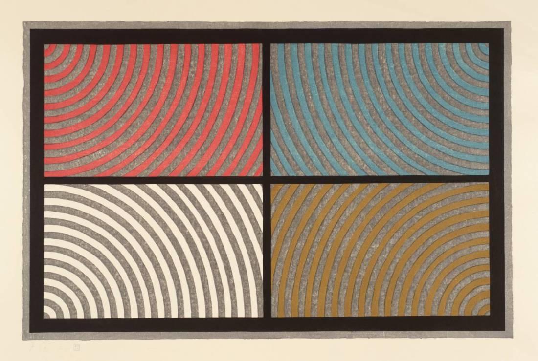 Sol LeWitt, Arcs from 4 Corners, 1986