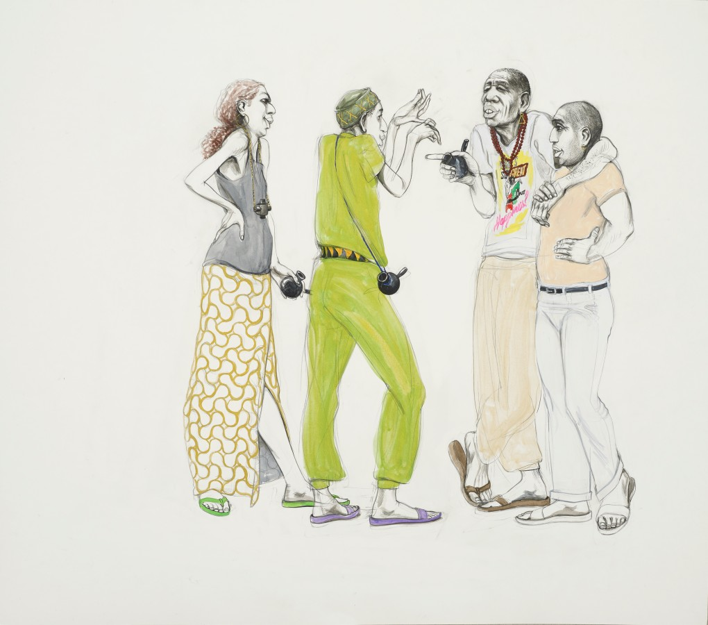 Charles Avery, Untitled (Gathering), 2020