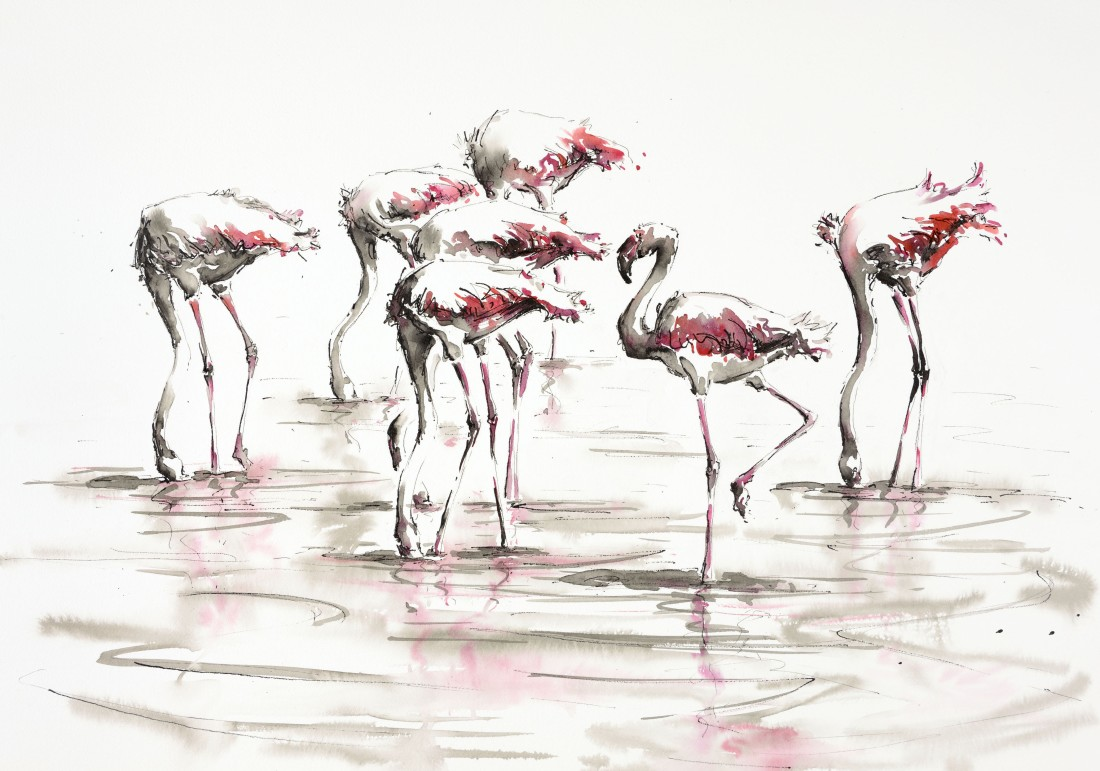 <p>Flamingo Days, &#163;1,850 <span class=&#34;color_e&#34;>SOLD</span></p>