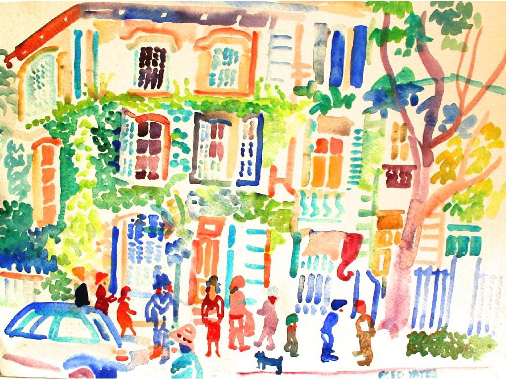 <p>Carpentras, Provence, Watercolour, 22 x 31 cms, £ 1,200</p>