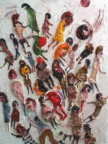 <p>Celebration, Oil on canvas, 62 x 46 cms, £6,000</p>