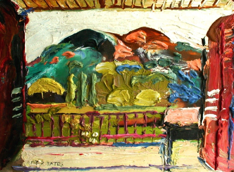 <p>My balcony, La Motte, Oil on board, 23 x 28 cms&#160; &#163;1,500</p>