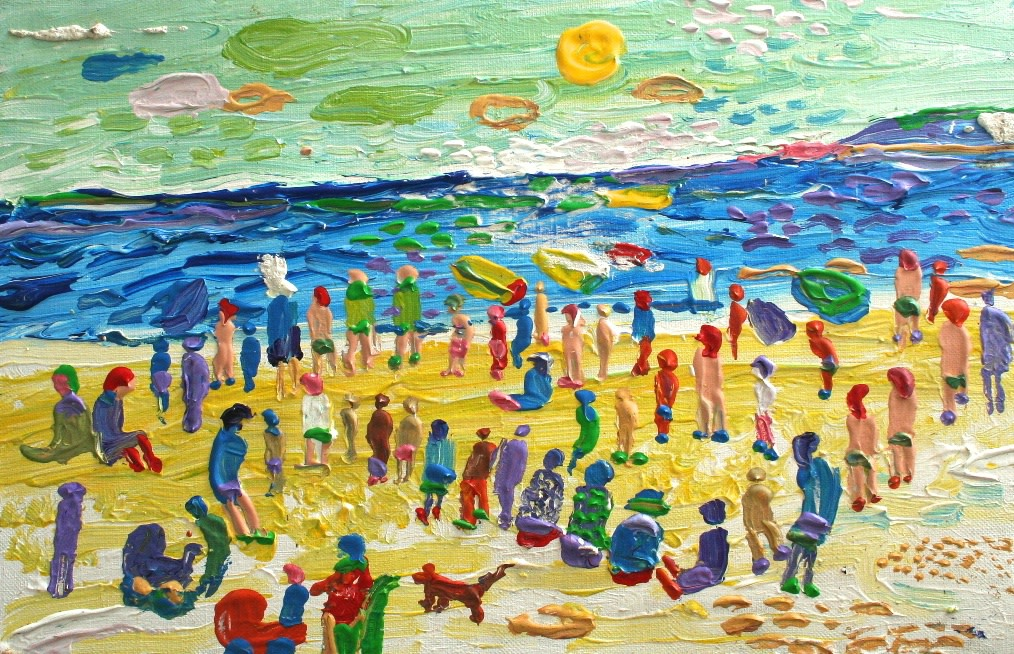 <p>On the Beach, Oil on canvas, 27 x 41 cms,&#160; &#163;3,500</p>