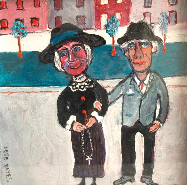 <p>La Troisiem Age, Oil on canvas, 40 x 40 cms, Signed &#160; &#163;3,500</p>