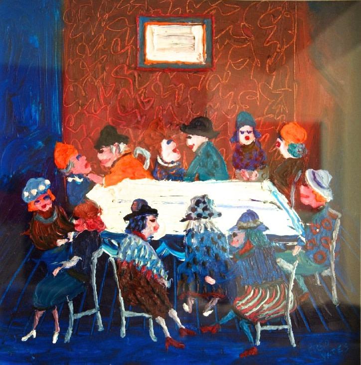 <p>La Sorcieres, Oil on canvas, 59 x 59 cms&#160; &#163;5,000</p>