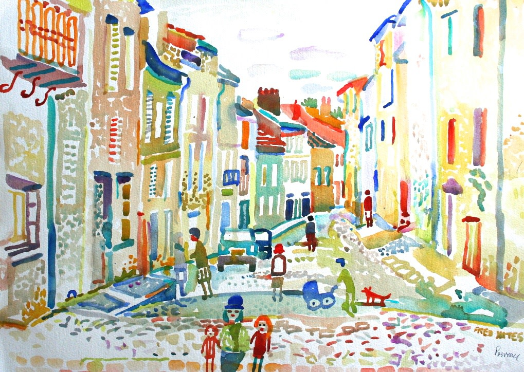 <p>Provence, Watercolour, 45 x 60 cms,&#160; &#163;1,750</p>