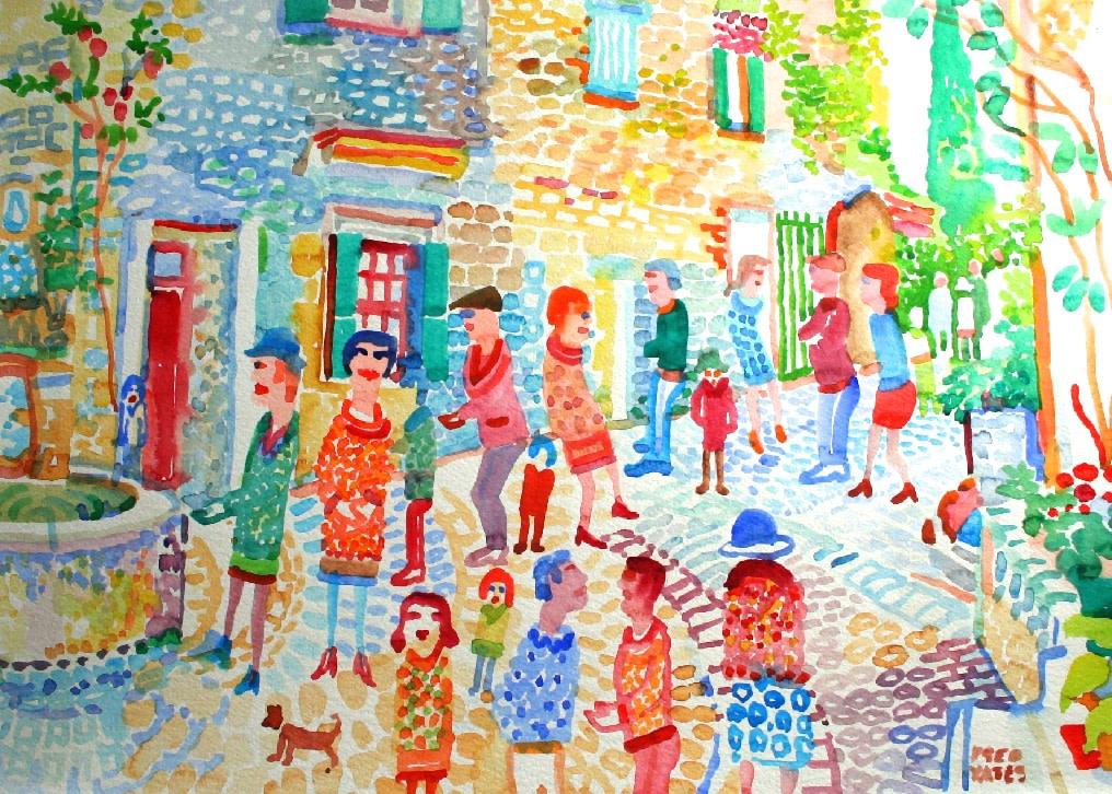 <p>Morning Walk, Watercolour, 50 x 70 cms, £2,500</p>