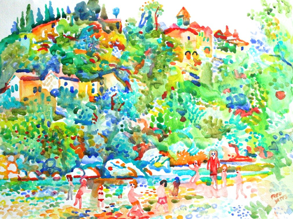 <p>The River at Vaison, Provence, Watercolour, 36 x 48 cms,&#160; &#163;1,500</p>