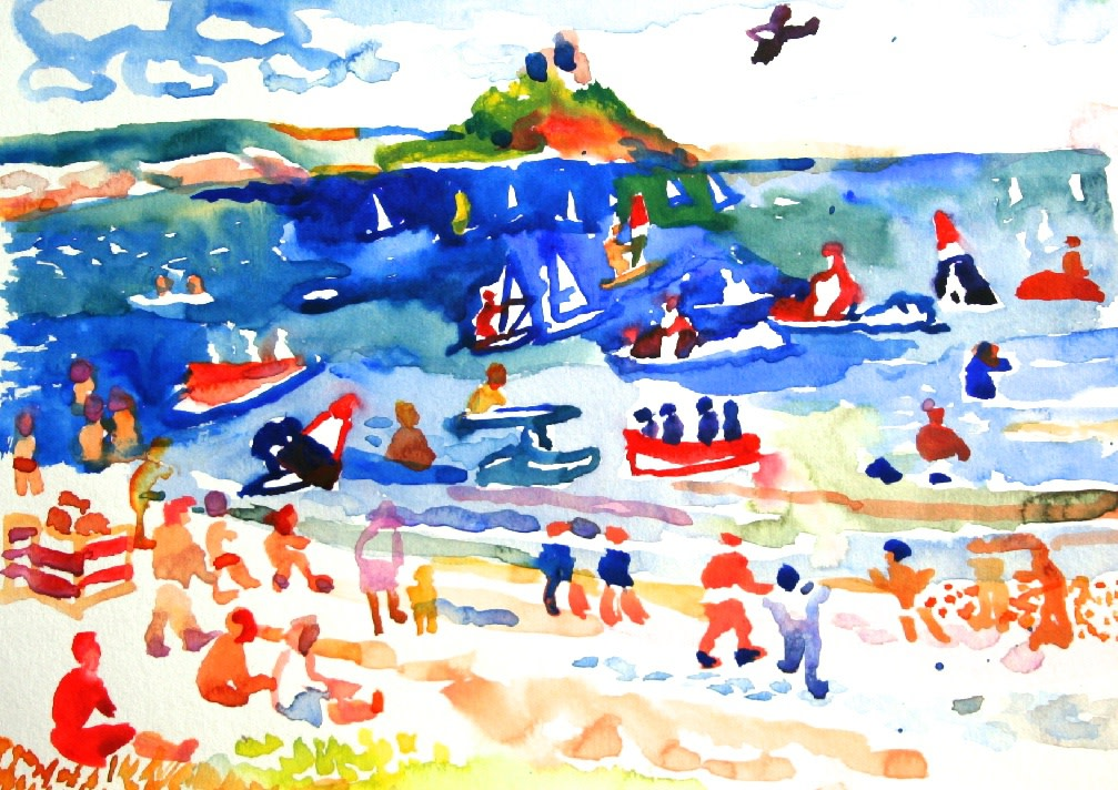 <p>Holiday, St. Michael's Mount, Watercolour, 18 x 26 cms,&#160; &#163; 750</p>
