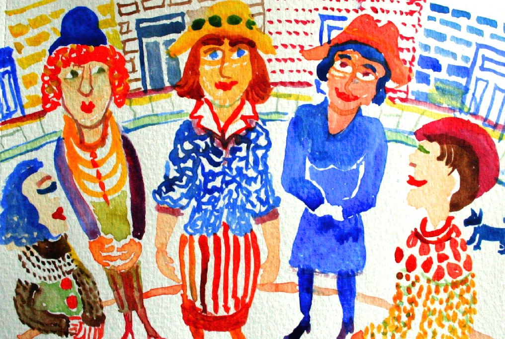 <p>Les Belles Dames, Watercolour, 14 x 18 cms,&#160; &#163;650</p>