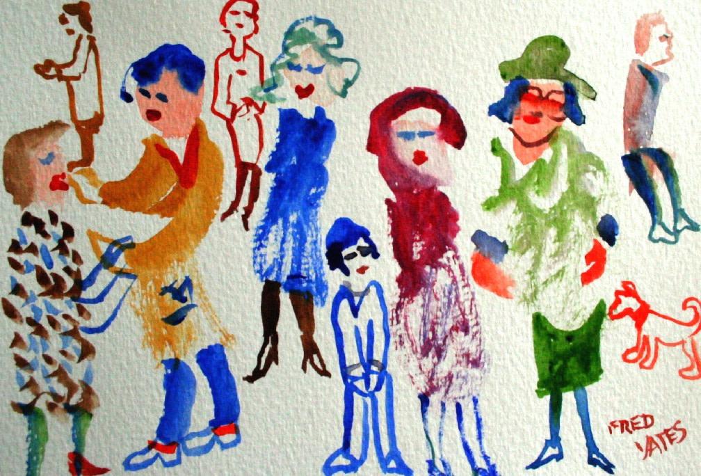 <p>Posing, Watercolour, 14 x 18 cms, £ 650</p>