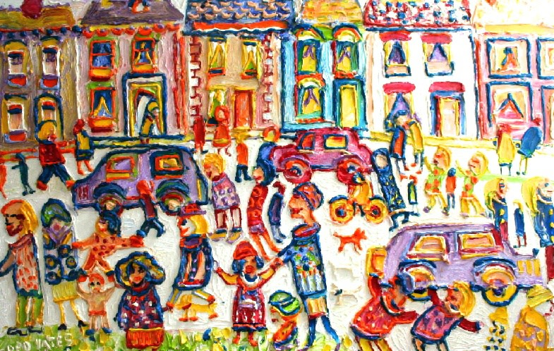 <p>Street Parade, Oil on canvas, 60 x 92 cms, Signed&#160; &#163;8,500</p>