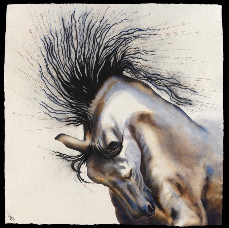 """<p>Velocity III, Watercolour, 37"""" x 37"""" , Price: £4,500</p>"""