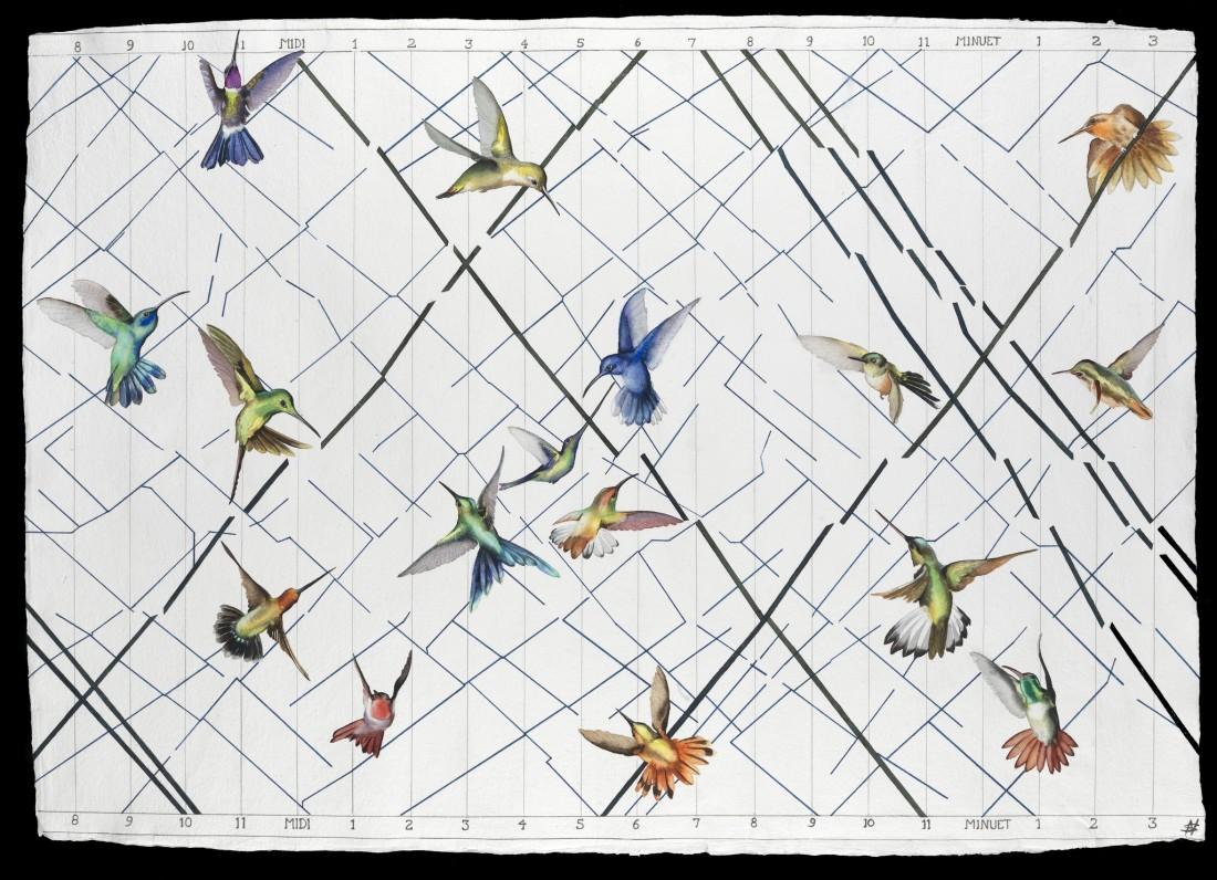 """<p>Air Traffic, Watercolour, 37"""" x 50"""" , Price: £5,400</p>"""