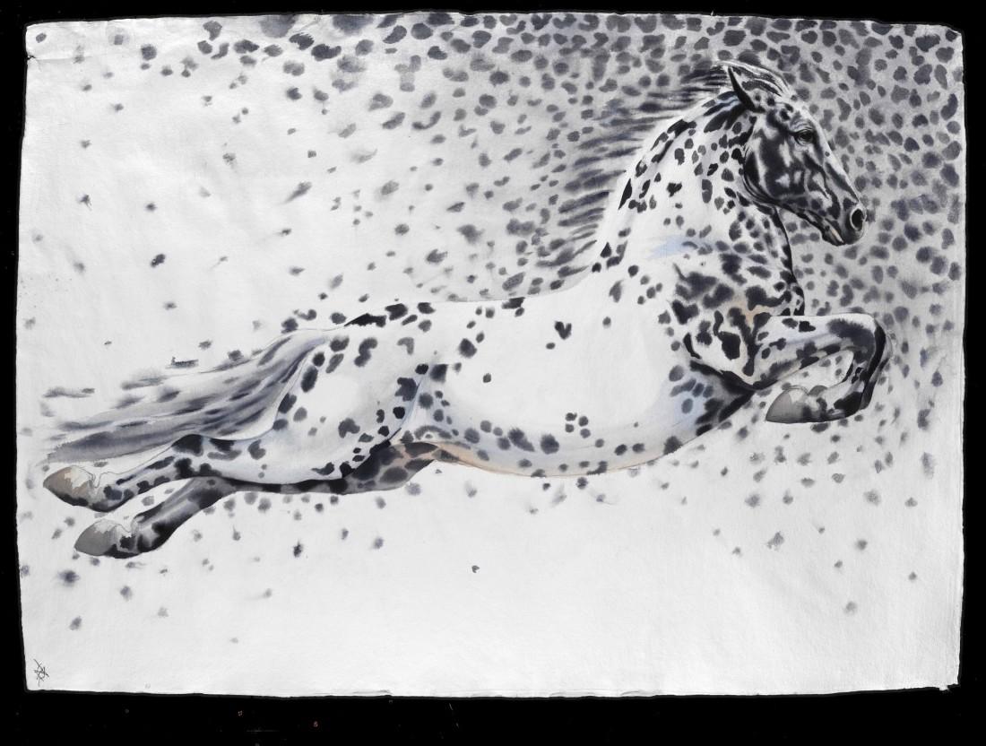 "<p>Molecule - Horse III, Watercolour, 37"" x 53"", Price: £5,400</p>"