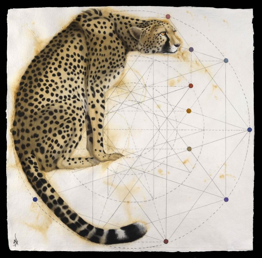 "<p>Gothic - Cheetah, Watercolour, 37"" x 37"", Price: £4,500</p>"