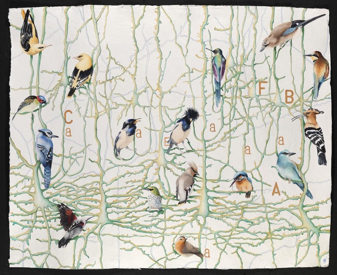 """<p>Transmitting, Watercolour, 37"""" x 50"""", Price: £5,400</p>"""