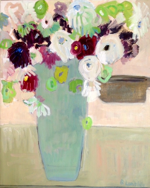 <p>Bridget Lansley. <em>The Beauty of Flowers</em>.&#160; Oil on canvas.76 x 61cm.&#160; Price: &#163;2,750</p>