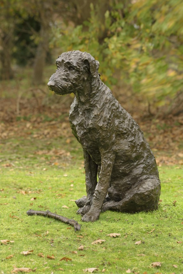<p>Rosemary Cook.&nbsp; <em>Harry.&nbsp;</em>(Lifesize) &nbsp; Bronze resin. Limited edition of 25. 81 x 45 x 61cm.&nbsp; Price: &pound;2,550</p>