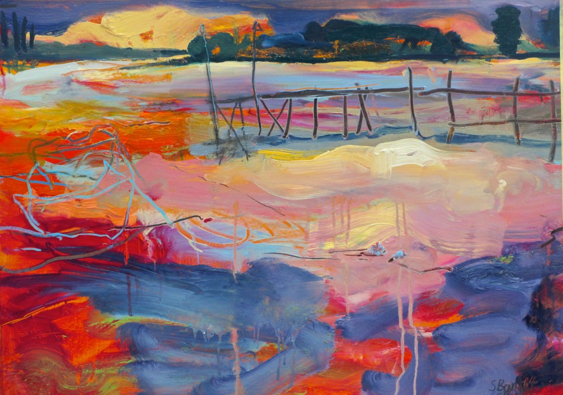 <p>Sophie Bartlett. S<em>unset, Dell Quay.</em>&nbsp; Oil on paper.60x80cm.&nbsp; Price: &pound;1,650</p>