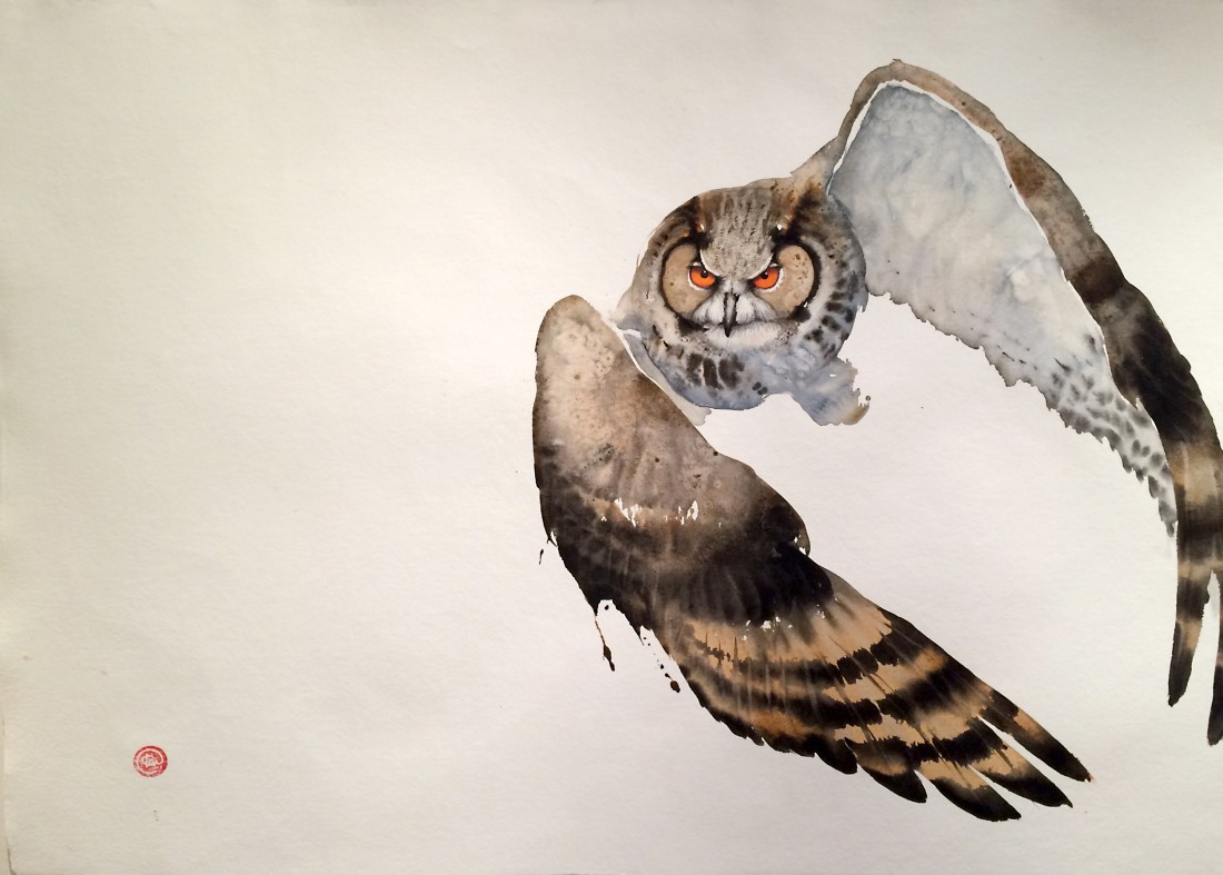 <p>Eagle Owl II</p><p>Watercolour</p><p>41&#34; x 55&#34;</p>